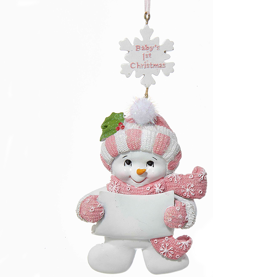 Babys-1st-Christmas-Pink-Snowman-Ornament