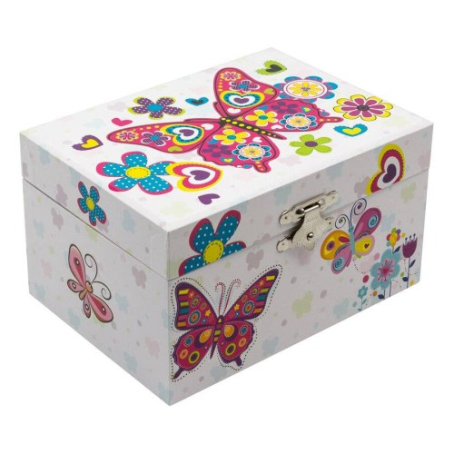 Butterfly-Children's-Musical-Jewelry-Box