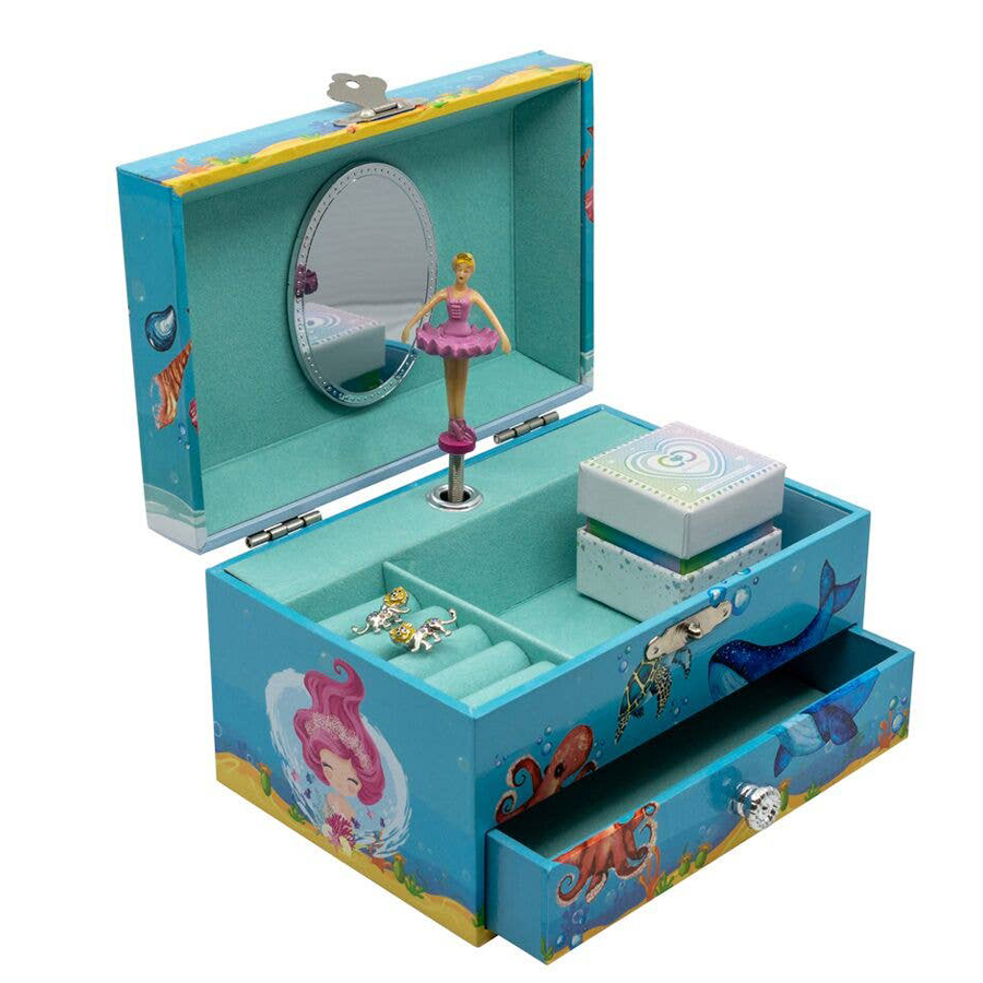 Mermaid-Musical-Jewelry-Box-open