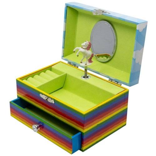Unicorn-Rainbow-Musical-Jewelry-Box-open