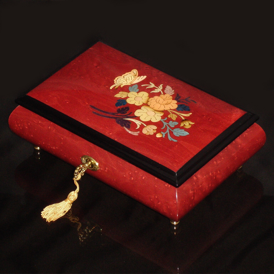 Italian-Inlay-Butterfly-Wine-Red