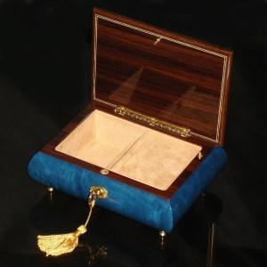 Italian-Inlay-Musical-Jewelry-Box-Heart-Dark-Blue-open