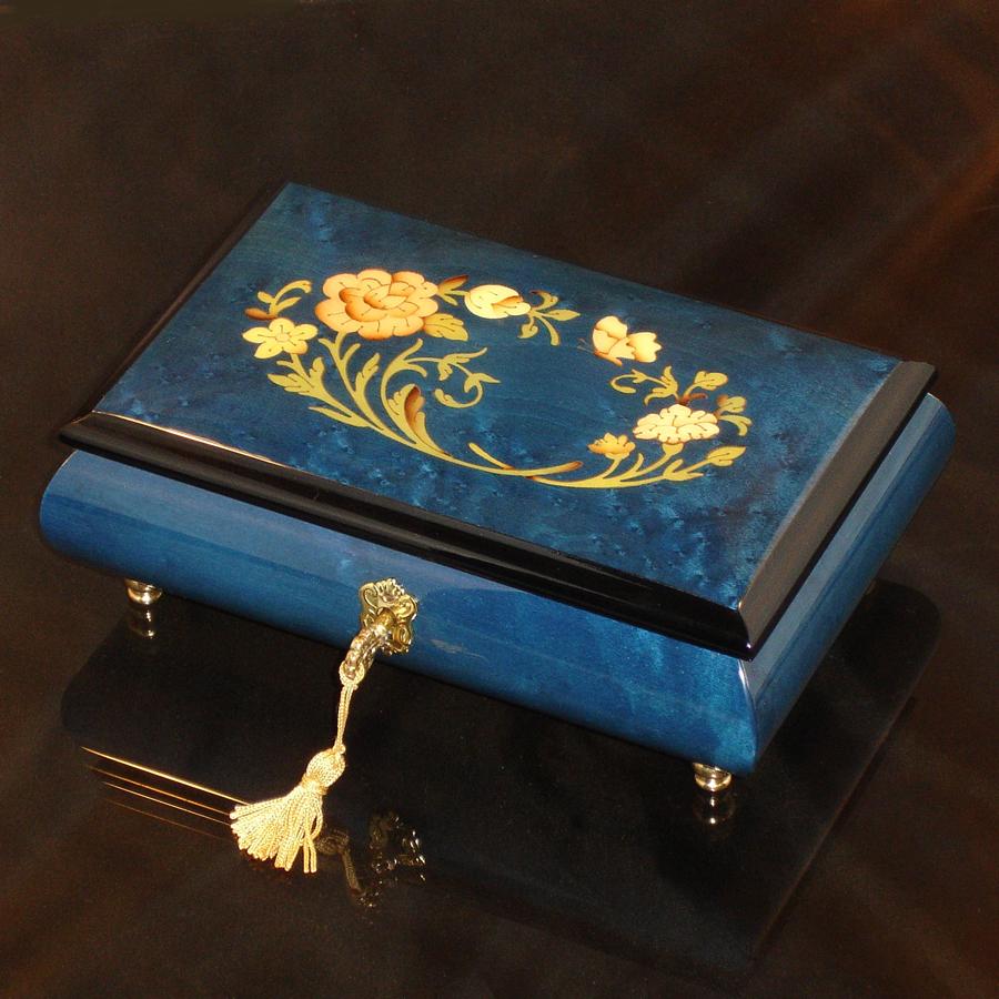 Italian-Inlay-Musical-Jewelry-Box-Blue
