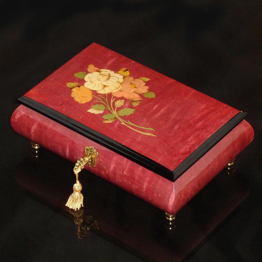 Italian-Inlay-Musical-Jewelry-Box-Pink