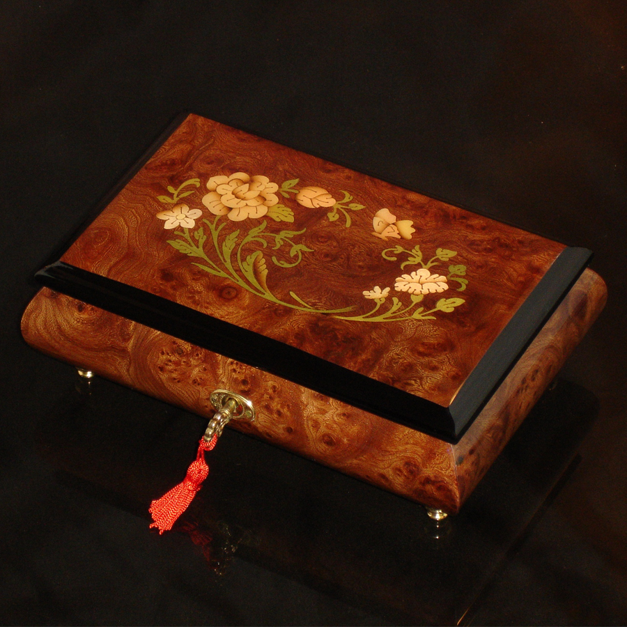 Italian-Inlay-Musical-Jewelry-Box-Elm