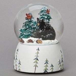 Black-Bear-Snow-Globe