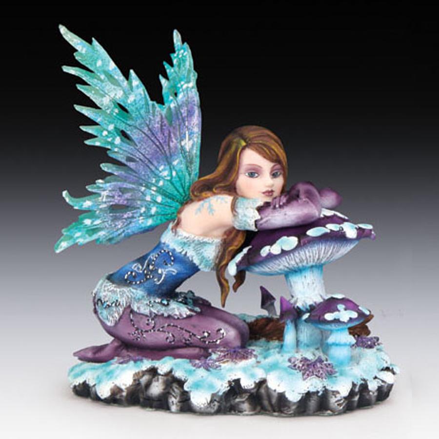 Blue-Fairy-with-Mushroom