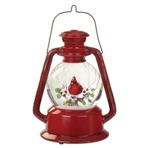Cardinal-Red-Lantern-Snow-Globe