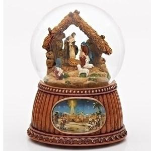 Nativity-Stable-Snow-Globe