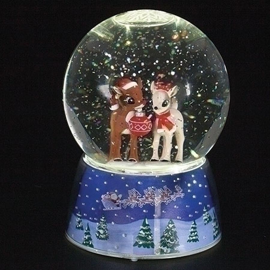 Rudolph-Lighted-Snow-Globe
