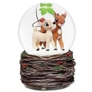 Rudolph-and-Clarice-Mistletoe-Globe