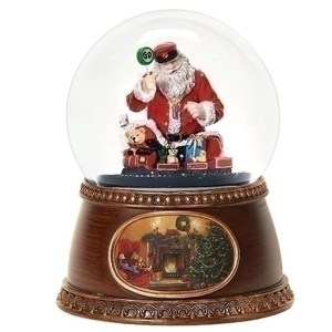 Santa-Train-Snow-Globe