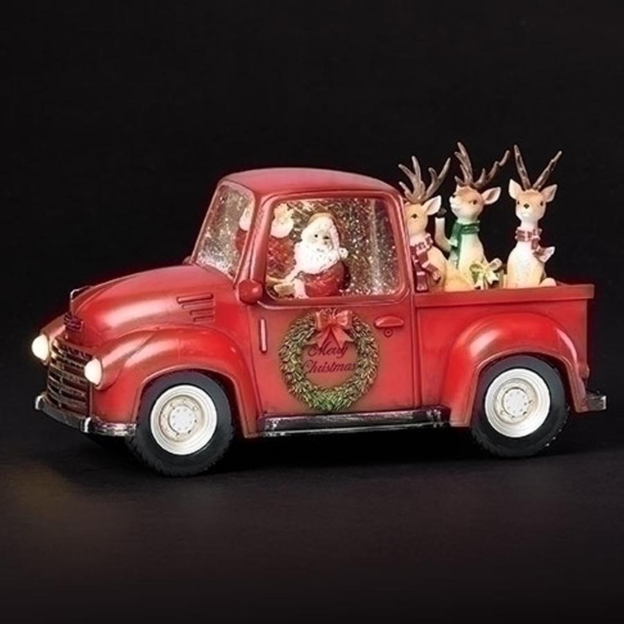 Santa-Truck-Reindeer