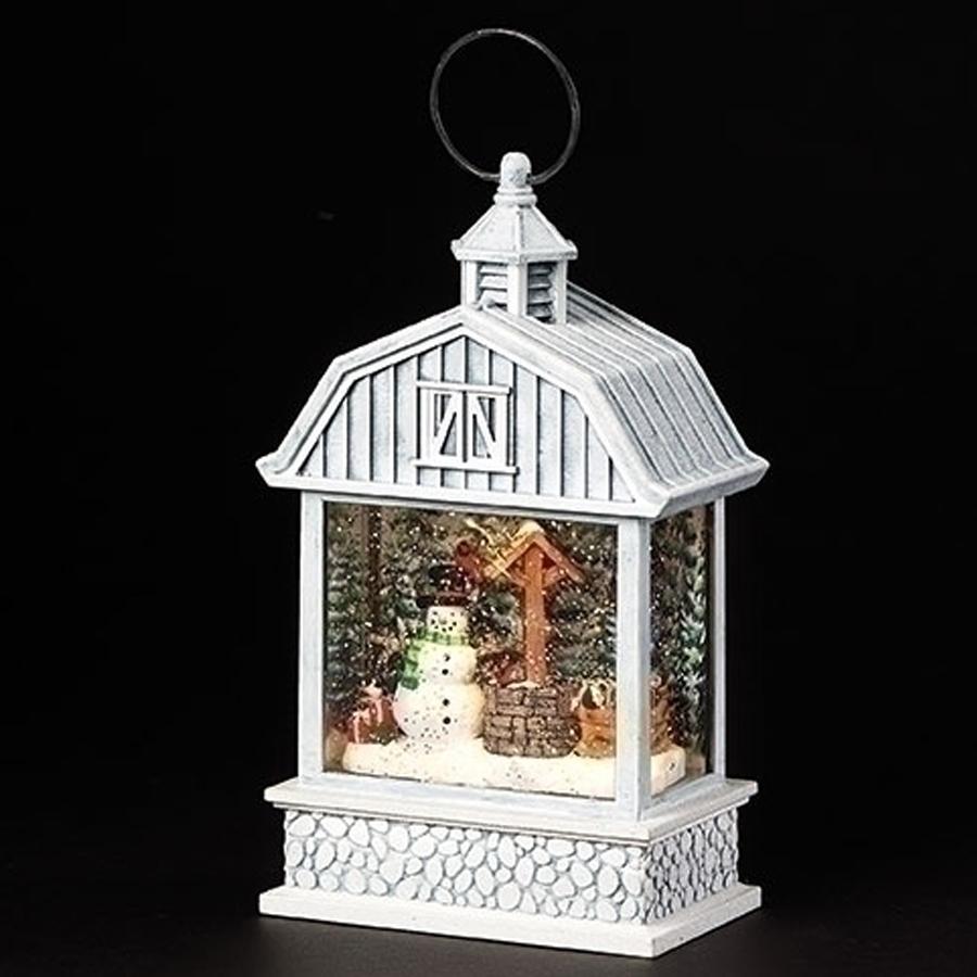 Snowman-Barn-Swirl-Lantern