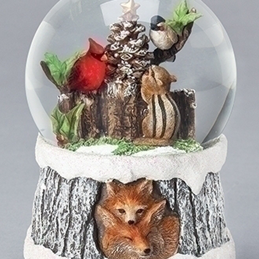 Fox-Birds-Chipmunk-globe-close