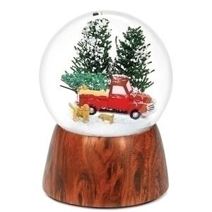 Red-Truck-wood-base-globe
