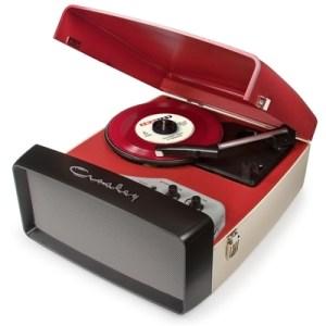 CR6010A-RE Crosley Collegiate Turntable - Red/Cream
