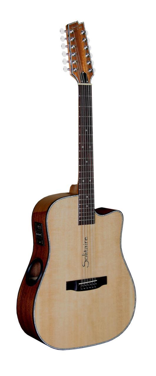 Boulder Creek Guitar, Solitaire Cutaway Spruce ECR1-N12
