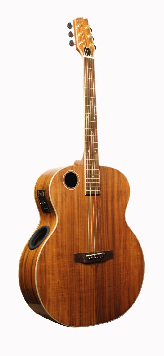 Boulder Creek Guitar, Jumbo Acoustic Koa Maple ERJ6-N