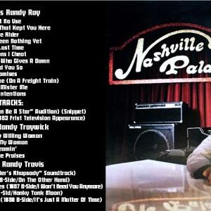 Randy Ray (Randy Travis) (Randy Traywick) - Nashville Palace + The Early Singles & B-Sides (1982) CD