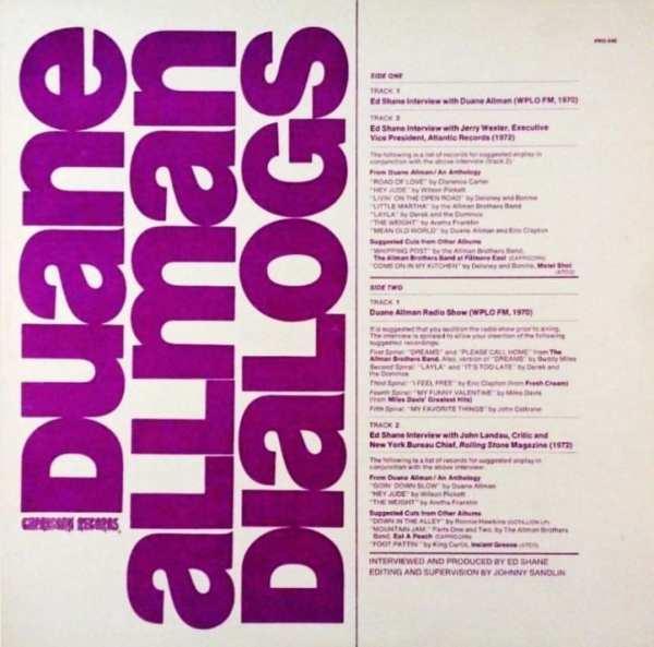 Duane Allman - Dialogs (1972) CD 1