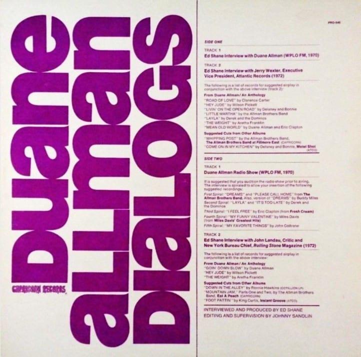Duane Allman - Dialogs (1972) CD 8