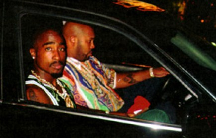 The last known photo taken of Tupac Shakur, just 20 minutes before the shooting. With Suge Knight.
