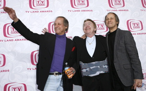 Jim Hager, left with Roy Clark and brother Jon Hager