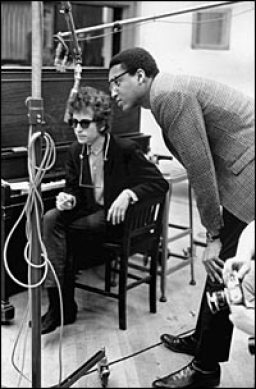 With Bob Dylan.  Photo by Don Hunstein