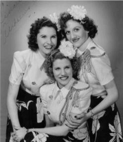 Maxene Andrews at left