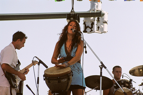 Members of the Shauna Sweeney Band performing at Sunfest