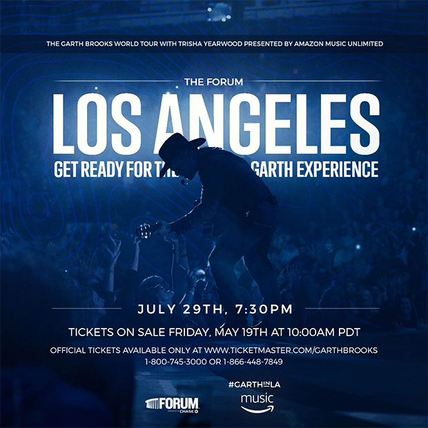 Garth Brooks set for four shows in Los Angeles