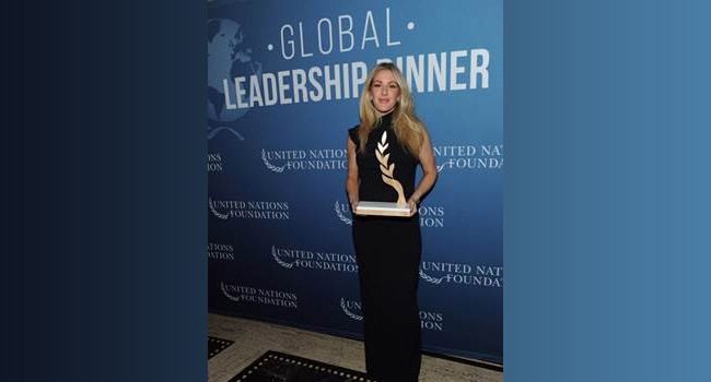 Ellie Goulding honored by United Nations