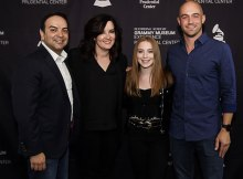 Pictured (L-R): Big Machine Music's Mike Molinar, Brandy Clark, Lauren Weintraub, Big Machine Music's Alex Heddle