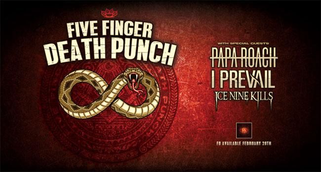 Five Finger Death Punch announces spring 2020 arena tour