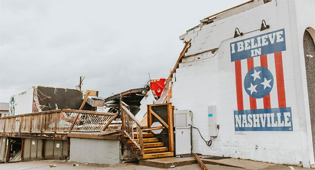 Gibson Gives supporting Nashville tornado relief