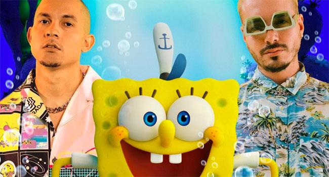 Tainy, J Balvin team for 'Agua' from new 'Spongebob' film