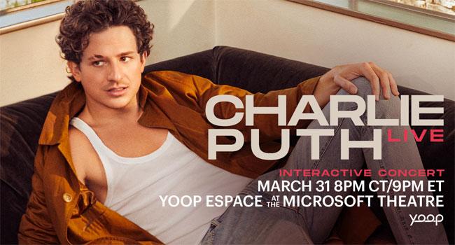 Charlie Puth on Yoop