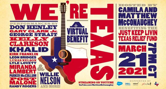 We're Texas Virtual Benefit Concert