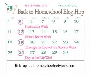 Back To Homeschool Blog Hop - A Day In The Life