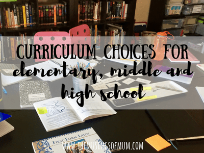 Curriculum Choices For Elementary, Middle and High School