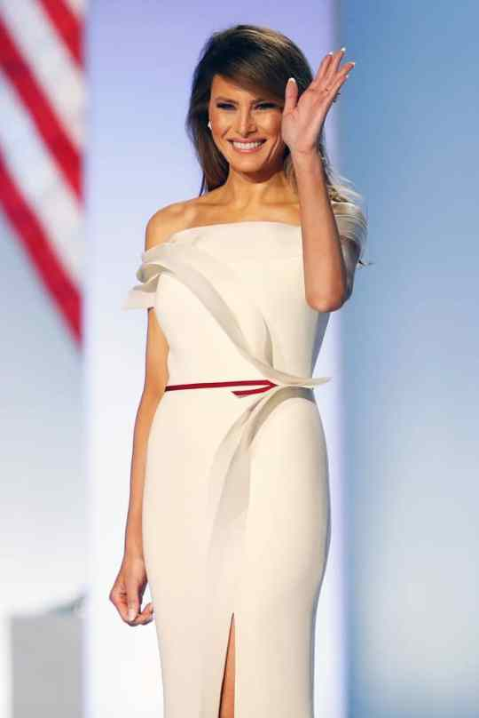 Melania Inaugural Ball dress