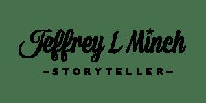 JLM Storyteller hand lettered logo
