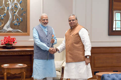 Jammu and Kashmir Governor meets PM, President in New Delhi