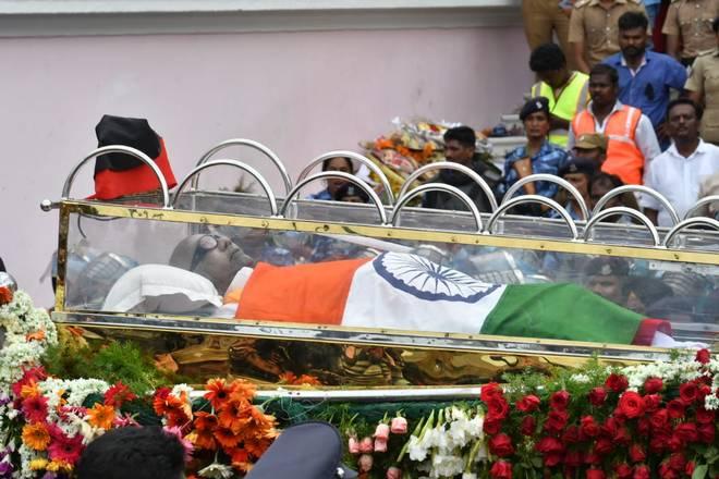 Karunanidhi laid to rest