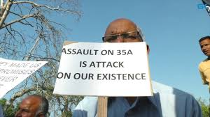 Valley's Biz Community launches week long protest programme against attack on Article 35-A
