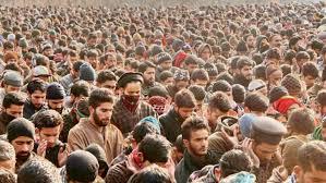 South Kashmir:  Multiple rounds of funeral prayers held for slain LeT commander in Arwani