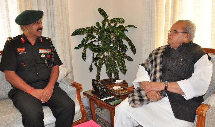 GoC 26 Inf Division meets Governor