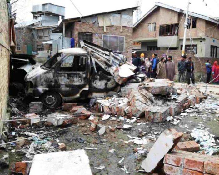 Srinagar: Blast Damages House, Vehicle Near Forces Bunker In Allochi Bagh