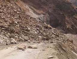 Traffic on highway suspended again due to landslides